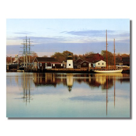 Ocean Lighthouse Lake Sailboat Wall Picture Art Print