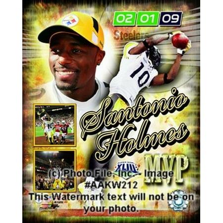 Santonio Holmes Super Bowl Xliii Mvp Portrait Plus  36 Sports Photo