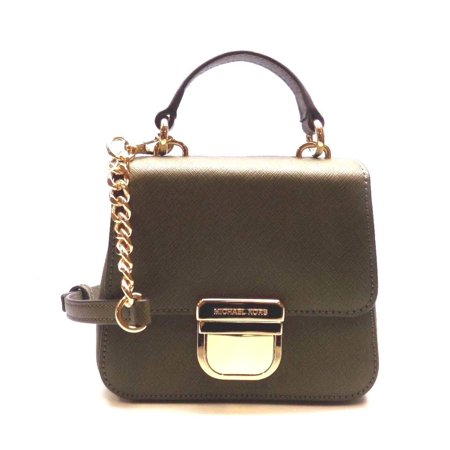 acaf4fb4baca NEW WOMEN S MICHAEL KORS BRIDGETTE MINI TH OLIVE SAFFIANO LEATHER CROSSBODY  BAG - Walmart.com