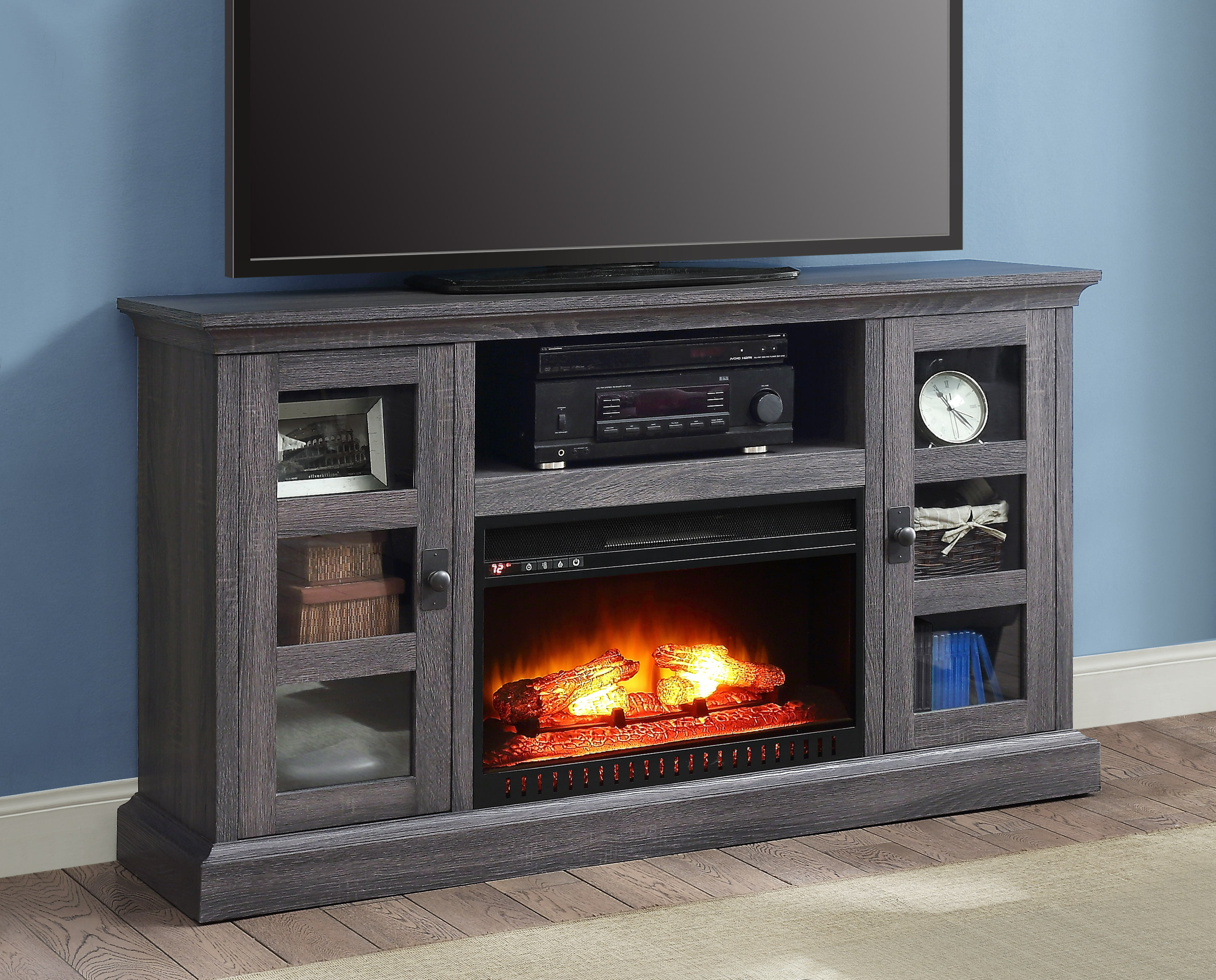 fireplace ebay to up for dark itm console tvs is whalen image loading media cherry