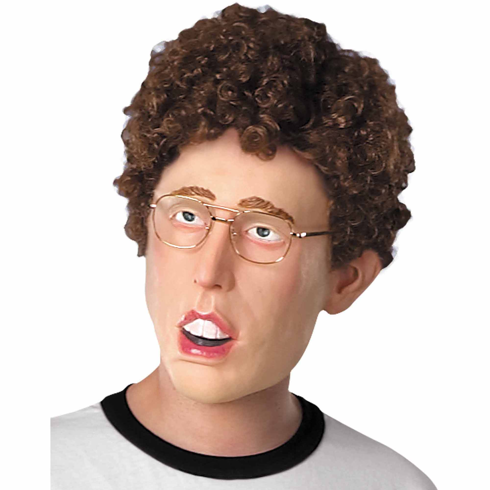 Napoleon Dynamite Mask with Hair Adult Halloween Accessory