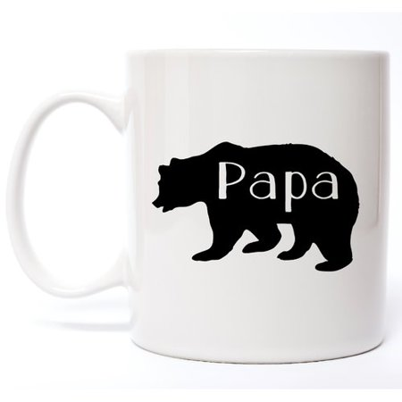 Davis Vinyl Designs Papa Bear Coffee Mug