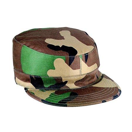 Gov Spec Woodland Camo Army Ranger Fatigue Cap Camouflage Ripstop Army Fatigue Cap