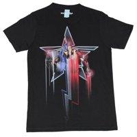 Captain America Mens T-Shirt -  Civil War Iron Man Dripping Star Image