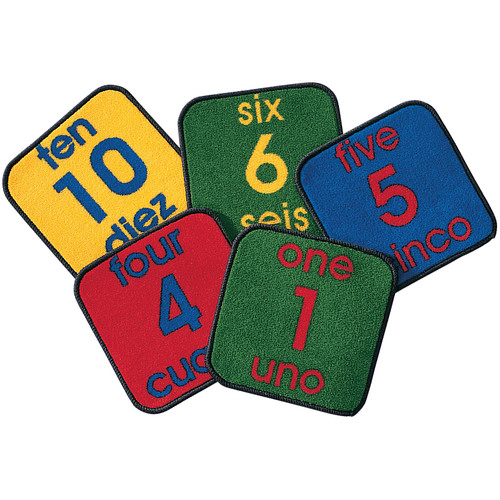 Carpets for Kids Carpet Kits Printed Bilingual Number Tile Area Rug