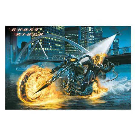 Ghost Rider Movie Poster Motorcycle Nicolas Cage New 24X36