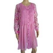 Womens 'Kea' Mini Kaftan Dress, Corail, Size M/40