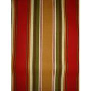 Antigua Ottoman in Royal Oak-Fabric:Red & Gold Stripes
