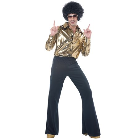 Disco King Adult Costume - Solid Gold Costume