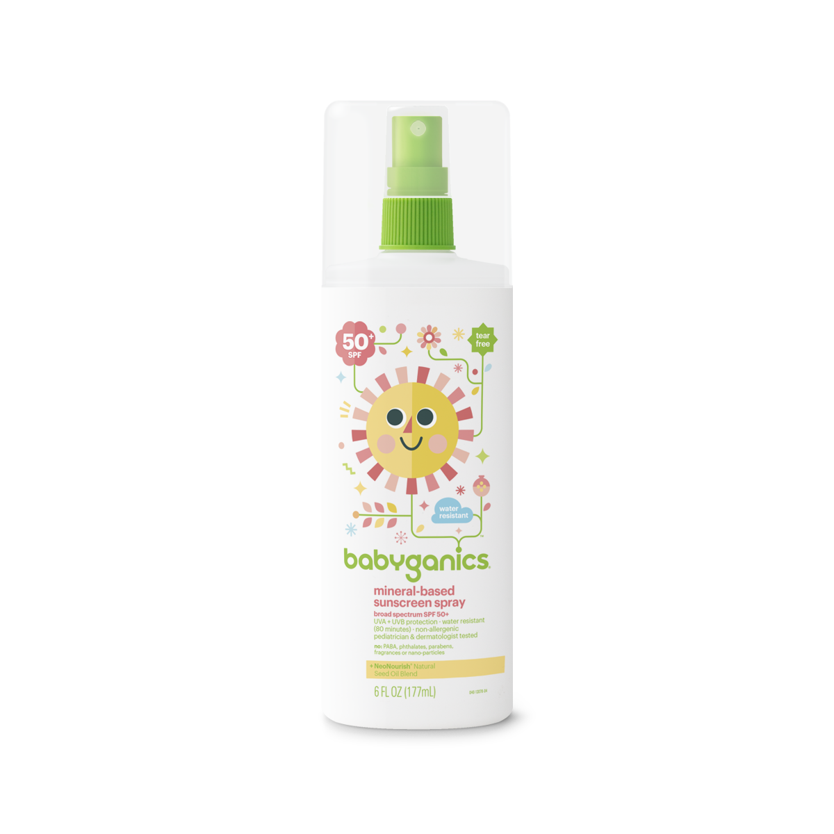 Babyganics Mineral-Based Sunscreen Spray, 50 SPF, 6oz