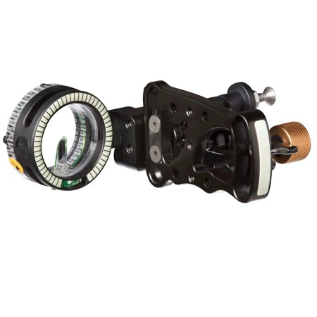 Trophy Ridge Drive™ Slider Sight with Adjustable Indicator Pin, Nylon Bushings for Smooth, Quiet Movement, Precision Installed Bubble Level and Ultra-bright Vertical Fiber Optic