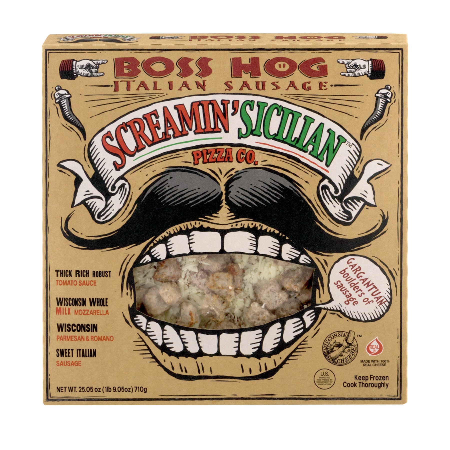 Screamin' Sicilian Pizza Co. Boss Hog Italian Sausage, 25.05 OZ