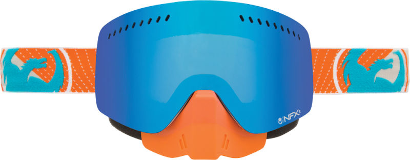 NFXS SNOW GOGGLE VERT W BLUE STEEL LENS by Dragon Alliance