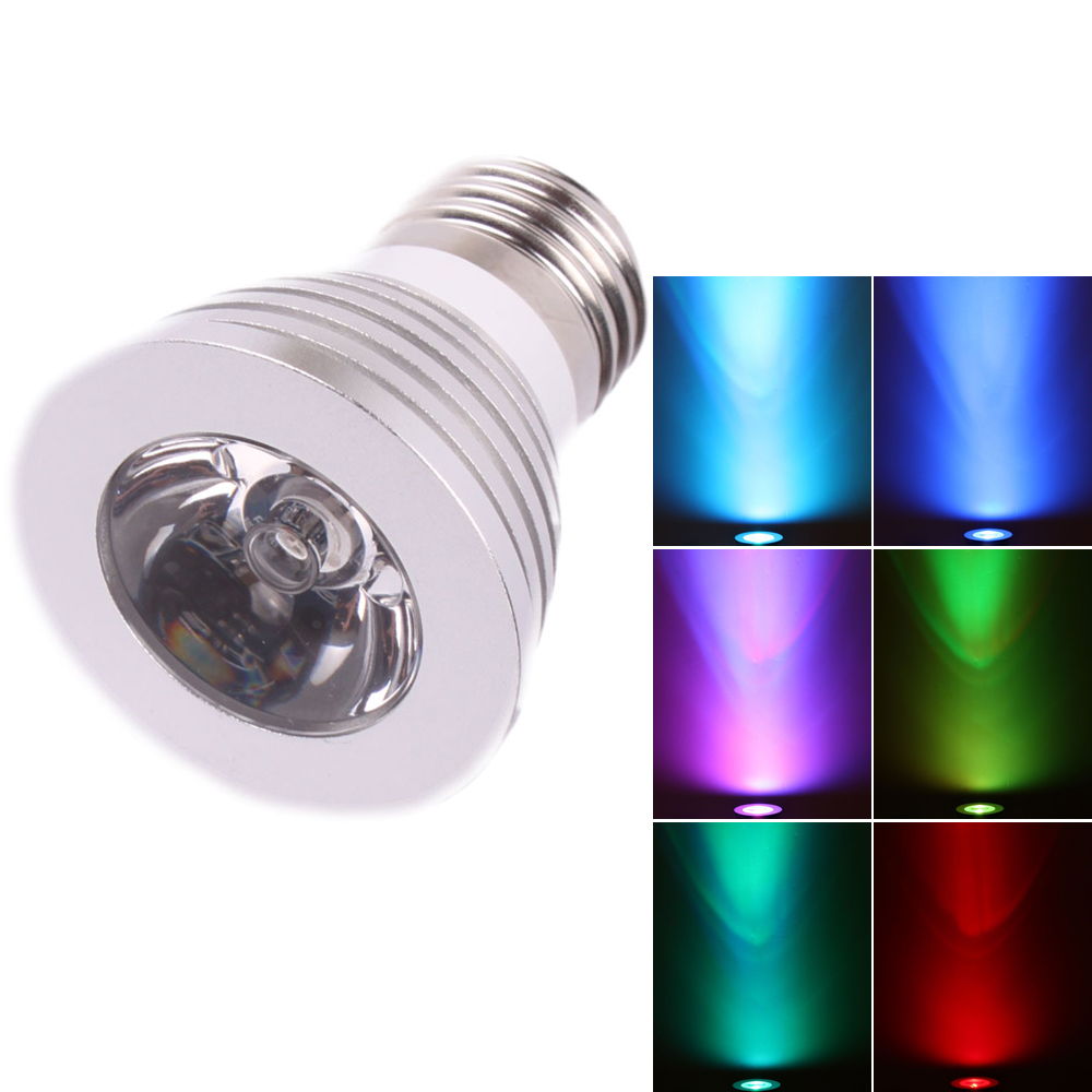 Zimtown E27 3W 85V-265V 16-color with Remote Control LED Spotlight Bulb Color Changing