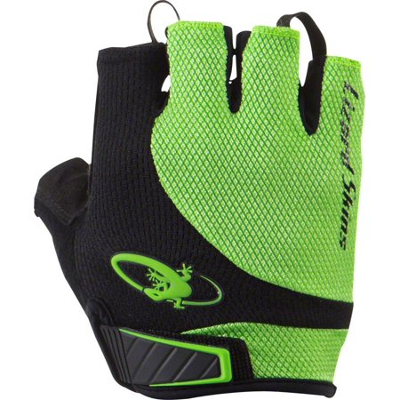 Lizard Skins Aramus Elite Gloves: Jet Black/Lime MD