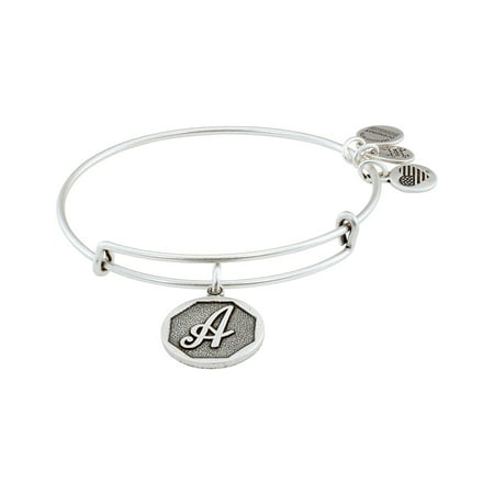 Alex and Ani Initial Charm Adjustable Wire Bangle