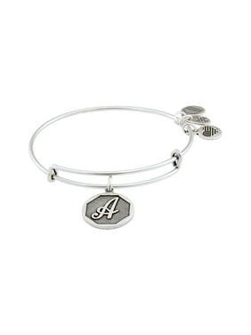 Alex and Ani Initial Charm Adjustable Wire Bangle Bracelet