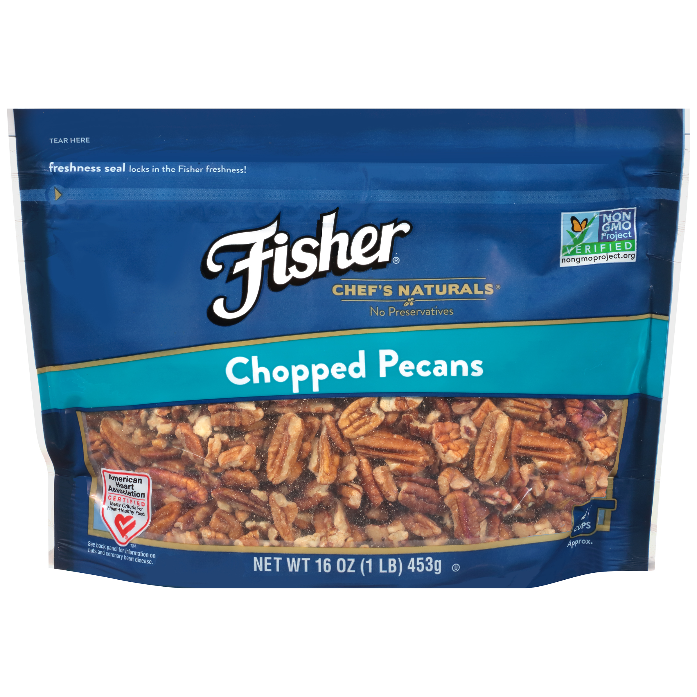 Fisher Chef's Naturals Chopped Pecans, 16 oz by John B. Sanfilippo & Son, Inc.