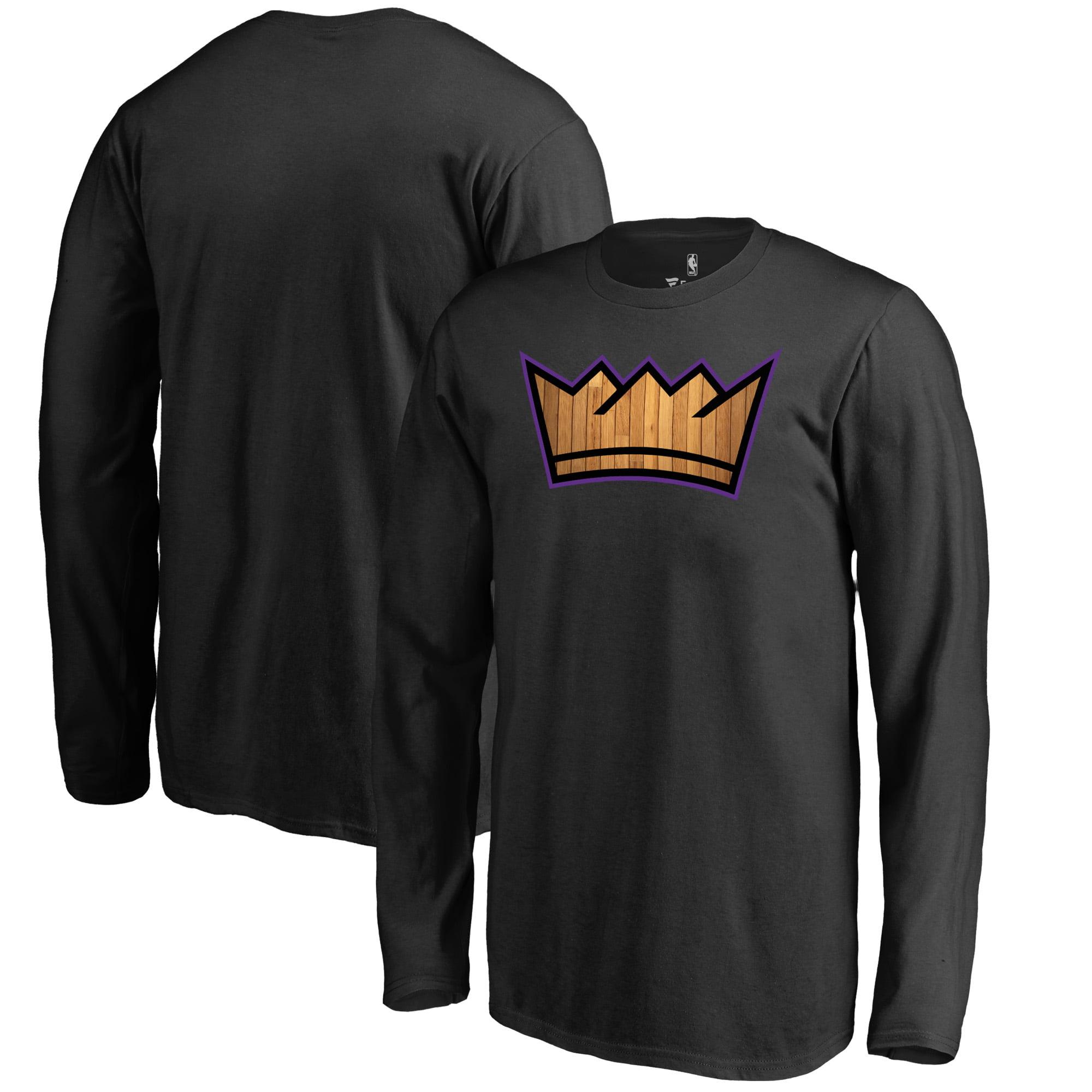 Sacramento Kings Fanatics Branded Youth Hardwood Long Sleeve T-Shirt - Black