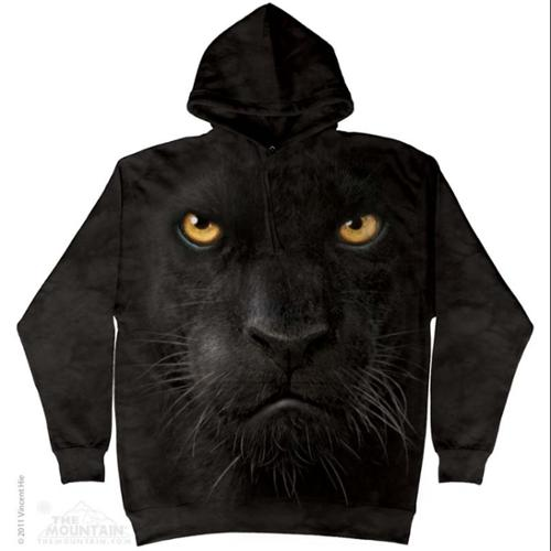 The Mountain Black Cotton Panther Face Awesome Animal Hoodie Cool (X-Large) NEW