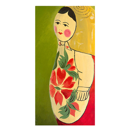 emma at home by Emma Gardner Matryoshka Three Quarter Face Giclee Painting Print on Wrapped Canvas