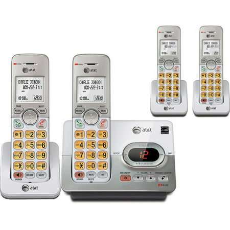 AT&T 5 Handset DECT 6.0 Cordless Phone Bundle with (1) EL52303 Phone System & (2) EL50003 (Handset Telephone System)