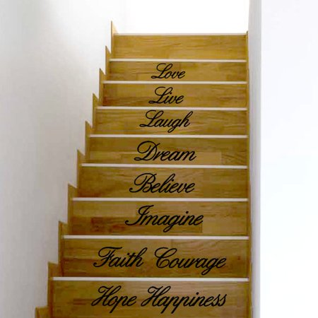 Outtop Live Laugh Love Decal Removable Wall Stickers Stair Decor (Live Laugh Love Wall Decals)