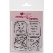 """Woodware Clear Stamps 3.5""""X3.5""""-Smile On My Face"""