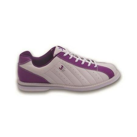 3G Ladies Kicks Bowling Shoes- White/Purple 7 M