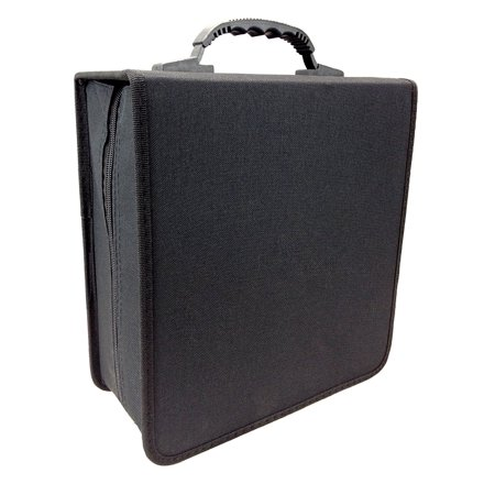 Disc Storage Case 350 Capacity CD DVD Wallet Solid Black Translucent Sleeves ( 1 Item Only )