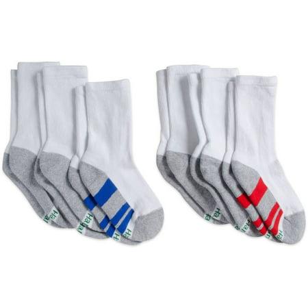 Hanes Crew Socks, 6 Pairs (Little Boys & Big Boys) for $<!---->