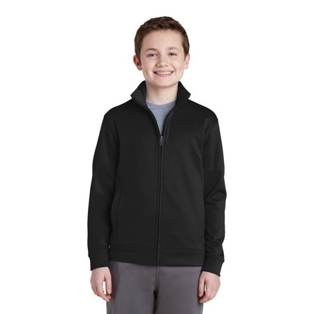 Sport-Tek® Youth Sport-Wick® Fleece Full-Zip Jacket.  Yst241 Black Xl - image 1 de 1
