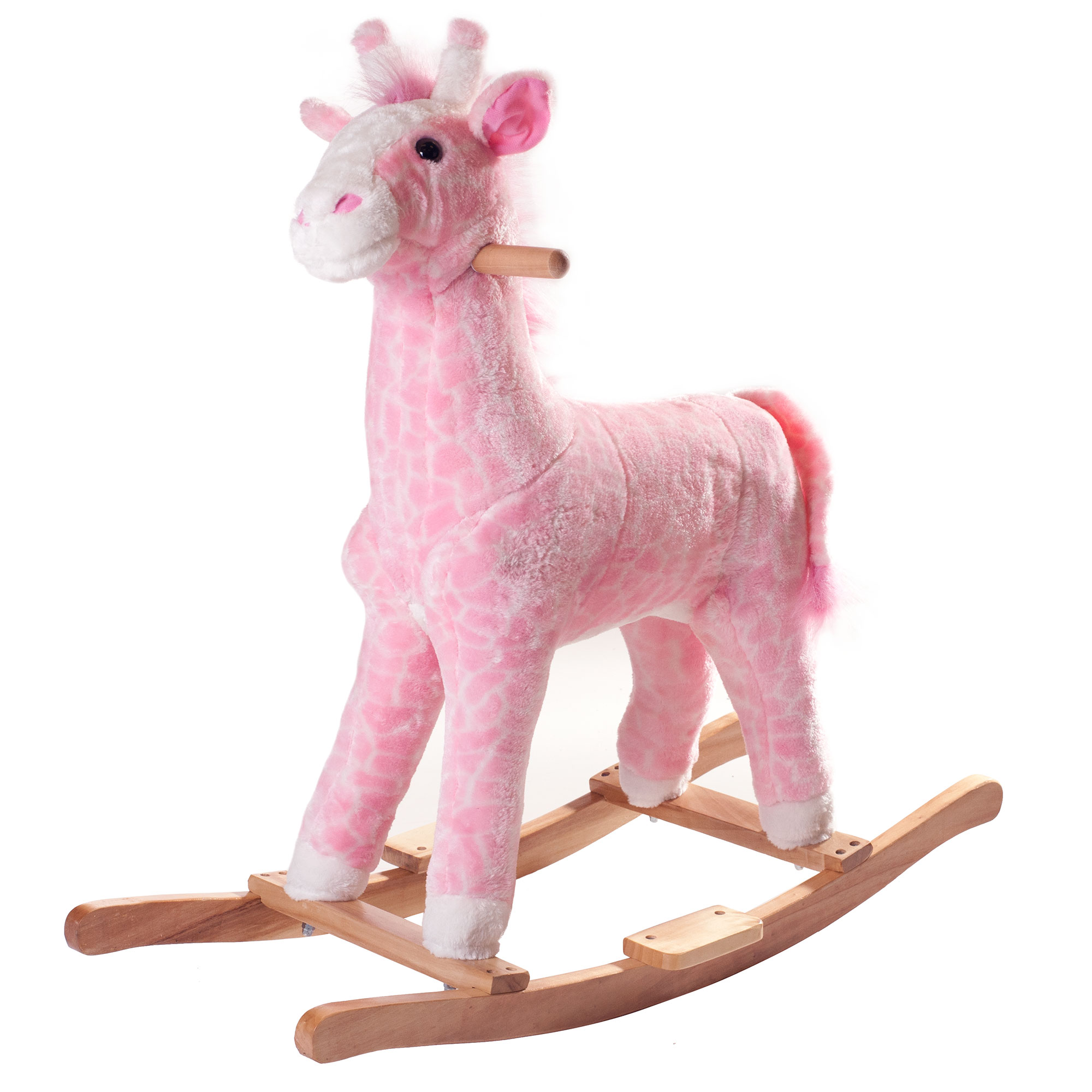 Penny the Pink Giraffe Plush Rocking Horse Animal Ride On Toy by Happy Trails
