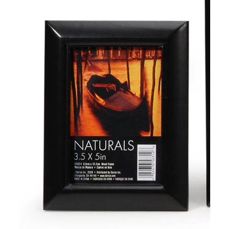 Darice Round Edge Wooden Picture Frame: Black, 3.5 x 5 in Own Wooden Picture Frame