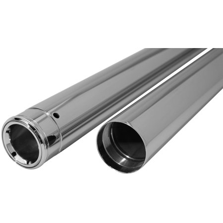 39 Mm Fork Tubes - Dew Mfg T1349 39mm Show Chrome Fork Tubes - 32.25in.