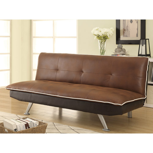 Coaster Microfiber Sofa Bed Brown Walmart