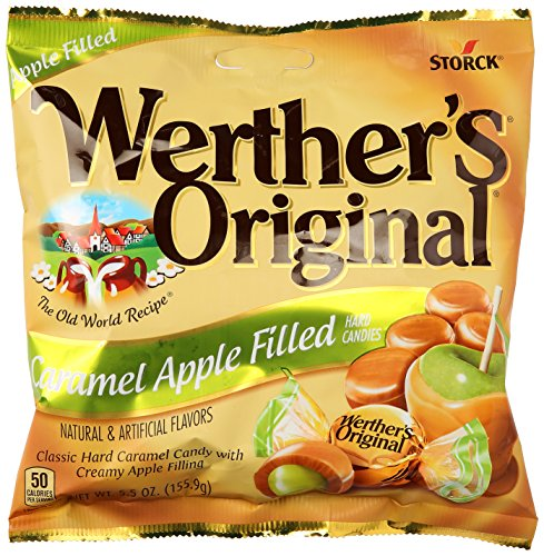 Werthers Caramel Apple Filled Hard Candies, 5.5 oz (Pack of 18)