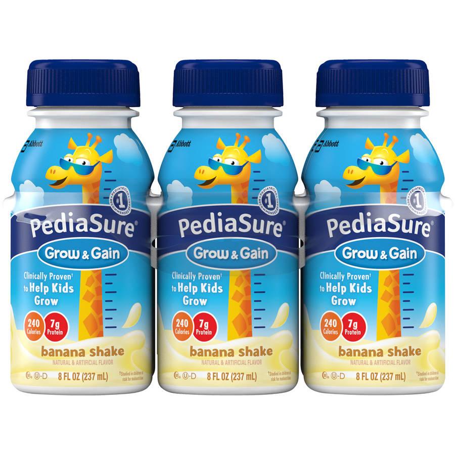 PediaSure Grow & Gain Banana Shakes, 8 fl oz, 6 count