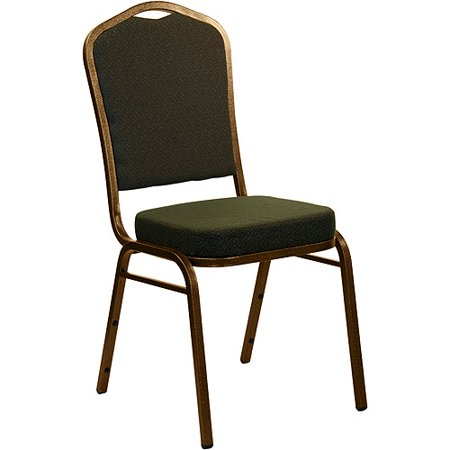4 Pack   Crown Back Stacking Banquet Chair With Goldvein Frame