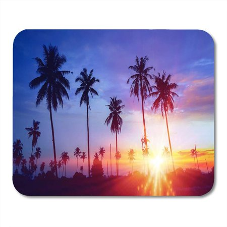 JSDART Colorful Palmtree Silhouetted of Coconut Tree During Sunset Palm Mousepad Mouse Pad Mouse Mat 9x10 inch - image 1 of 1