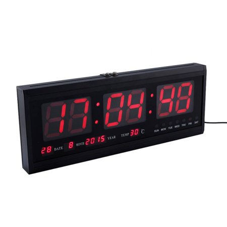 Fan Desk Clock - Digital Large Big Digits LED Wall Desk ALARM Clock Calendar Temperature