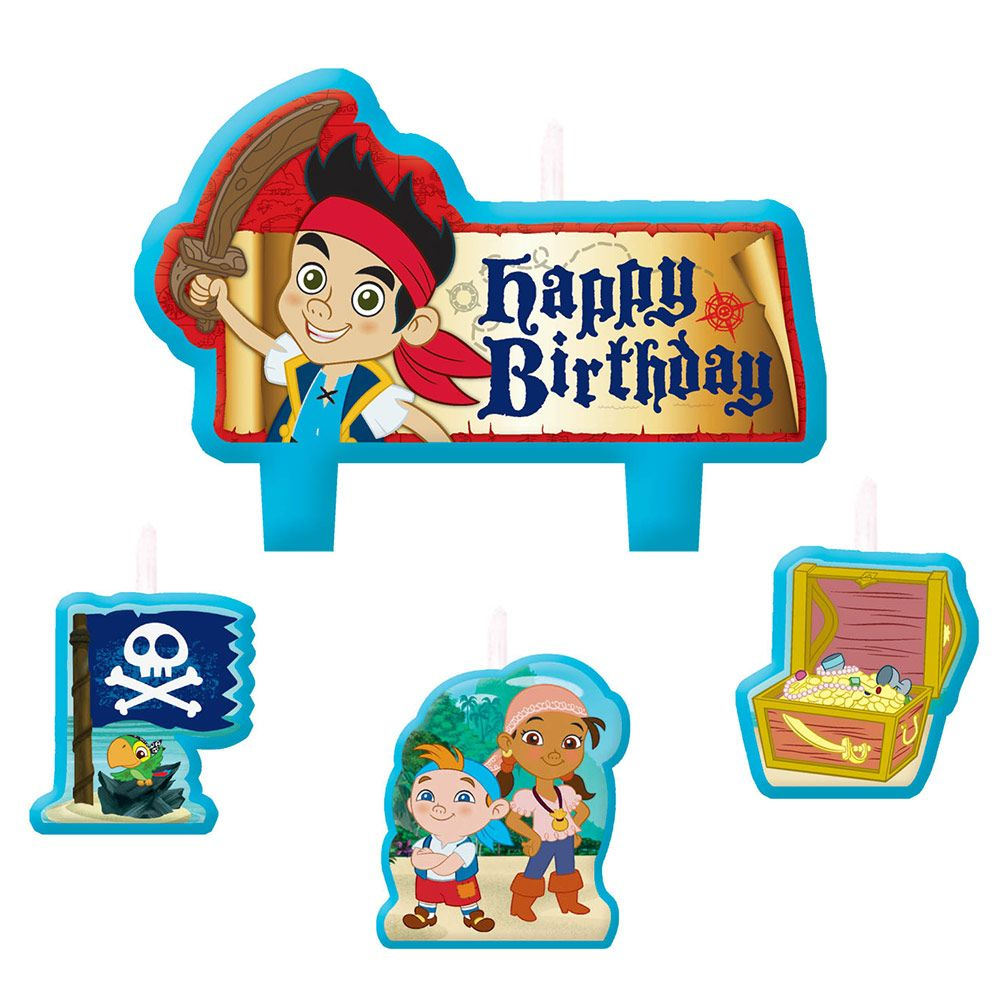 Jake And The Neverland Pirates Candle Set (4 Candle Set) - Party Supplies