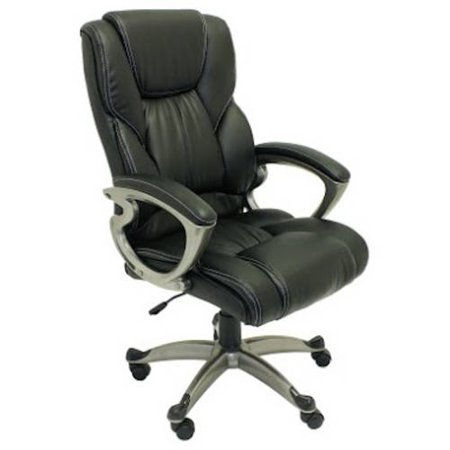ALEKO ALC6121BL High Back Office Chair Ergonomic Computer Desk Chair Black