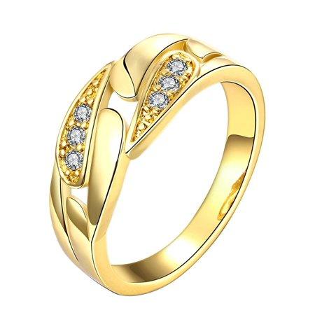 Gold Plated Crystal Cluster Designer Inspired Ring Size - Clustered Crystal