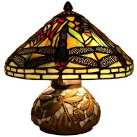 River of Goods Mini Dragonfly Stained Glass Table Lamp