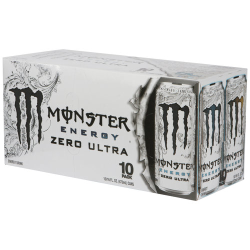 Monster Zero Ultra Energy Drink, 16 fl oz, 10 pack