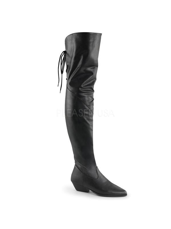 Pleaser Single Soles Thigh High Boots ROD8822/BPU Size: 7