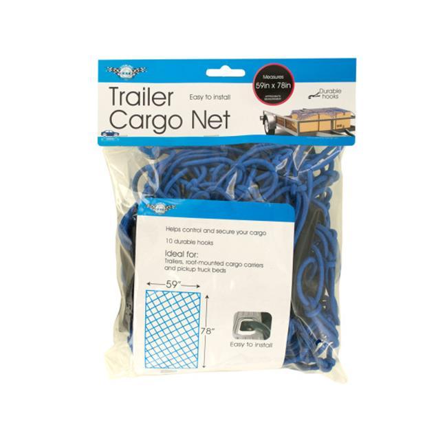 Bulk Buys OL422-3 Trailer Cargo Net with Hooks, 3 Piece
