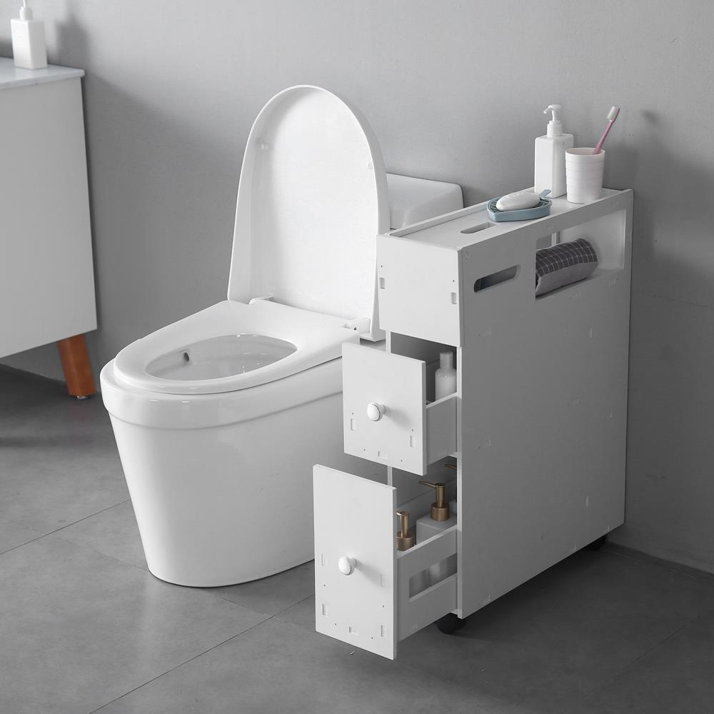 Zimtown Bath Toilet Cabinets Drawers Stand Space Saver Storage Kitchen Bathroom