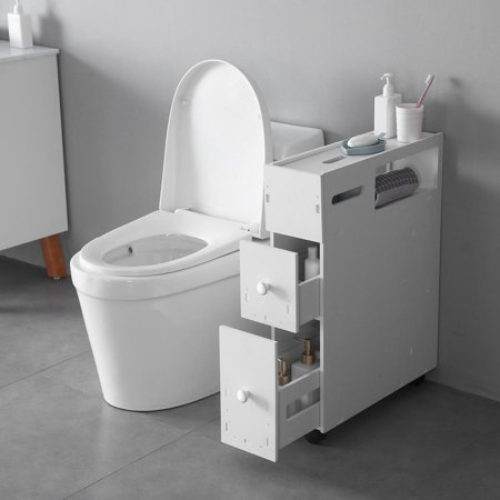 - Zimtown Bath Toilet Cabinets Drawers Stand Space Saver Storage Kitchen Bathroom